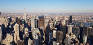 Vue de l'Empire State : Le nord de Manhattan, Central Park, le Bronx, le Queens, le Chrysler Building @Adélaïde