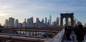 Manhattan vu de Brooklyn Bridge @Adélaïde