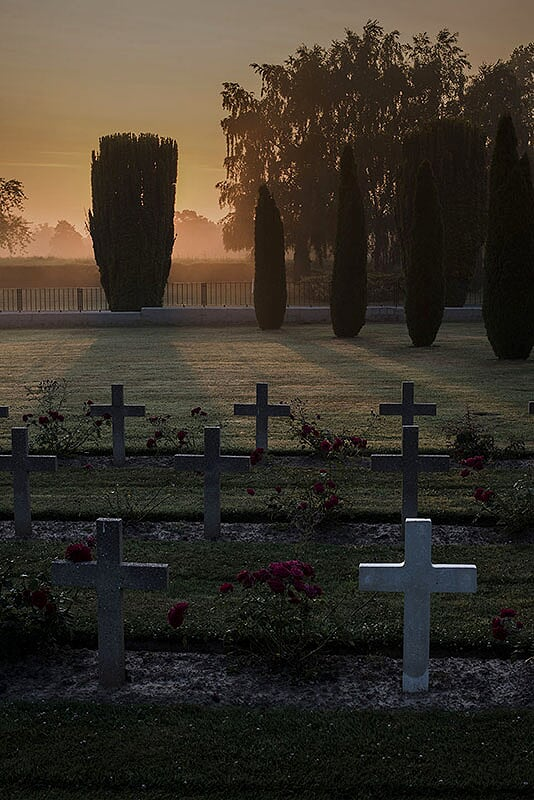 Dawn in the cemetery of Good and Evil