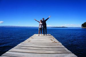 Amy et Romain Lac Titicaca //www.facebook.com/romain.supertramp.3?fref=ts